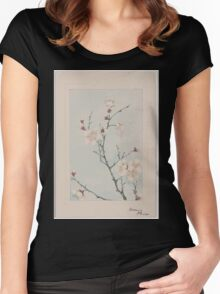 Plum branches with blossoms 001 Women's Fitted Scoop T-Shirt
