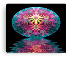 Flower Stitch Canvas Print