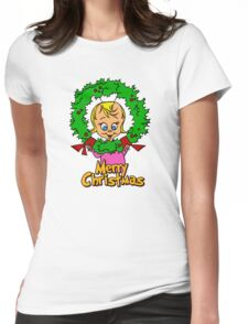 Merry Christmas Cindy Lou  Womens Fitted T-Shirt
