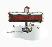 Meowy Christmas Kids Tee