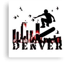 denver skateboarding Canvas Print