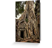 Cambodia - Angkor - Ta Prohm  #06 ... location for film Tomb Raider Greeting Card