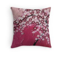 Pink cherry blossom tree - Japanese - card phone cover / case Throw Pillow