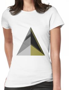Daft Triangles Womens Fitted T-Shirt