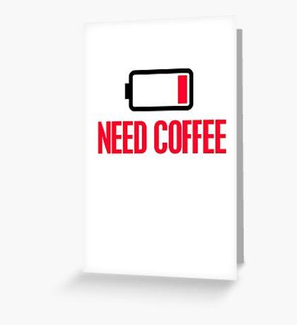 Need coffee Greeting Card