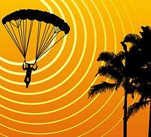 sunScene sky diving by maydaze
