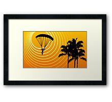 sunScene sky diving Framed Print