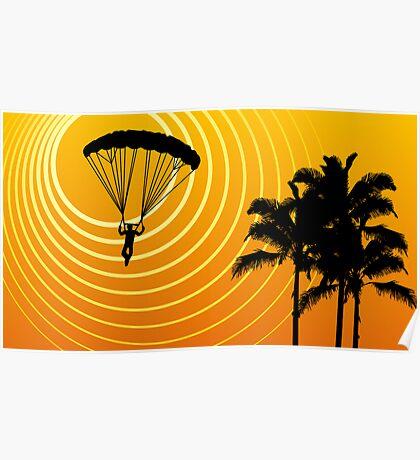 sunScene sky diving Poster