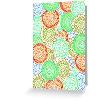 Pastel Pattern Frenzy Greeting Card