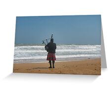 Lone Piper Greeting Card