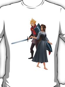 Aerith (Girl) And Cloud - Sleeping Beauty T-Shirt