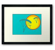 sun sky dive Framed Print
