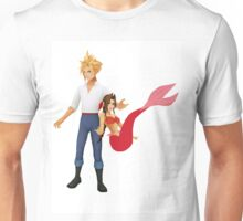 Aerith (Pink) and Cloud - Little Mermaid Unisex T-Shirt