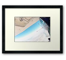 jumping out of a plane Framed Print
