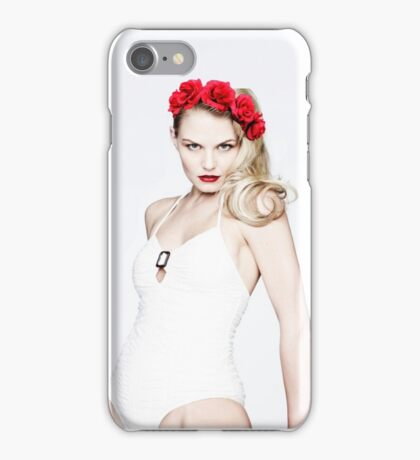 Jennifer Morrison - Red Flower Crown iPhone Case/Skin