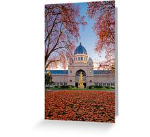 The Royal Exhibition building Greeting Card