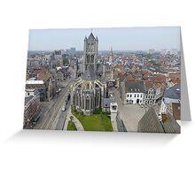 Gent -Belgium. Greeting Card