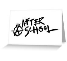 After School Logo Greeting Card
