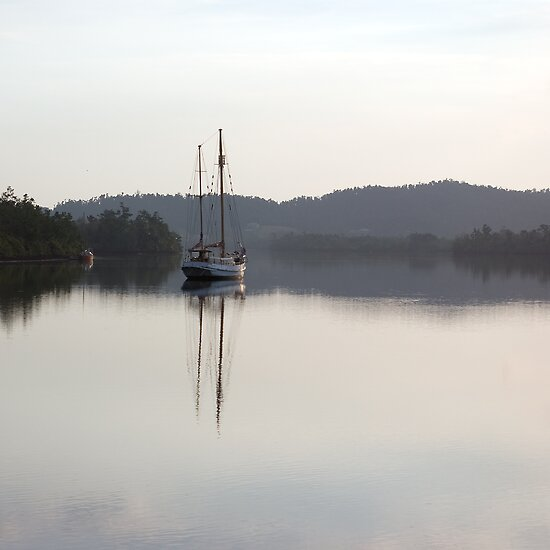 Dreamy Morn, Soft Light (Johnstone River, Innisfail, Qld. AU) by Kerryn Madsen-Pietsch