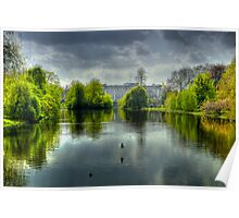 Buckingham Palace and St James Park Poster