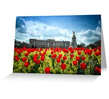 Buckingham Palace and tulips Greeting Card