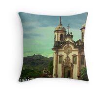 São Francisco de Assis Church, Ouro Preto, Brazil Throw Pillow