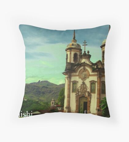 São Francisco de Assis Church, Ouro Preto, Brazil Throw Pillow