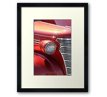 Orange Old Antique Muscle Car Framed Print