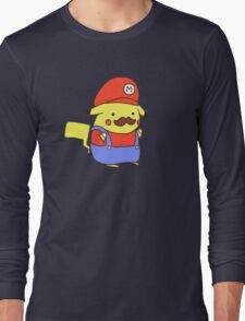 Pikachu/Mario Long Sleeve T-Shirt