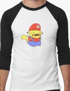Pikachu/Mario Men's Baseball ¾ T-Shirt