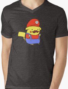 Pikachu/Mario Mens V-Neck T-Shirt