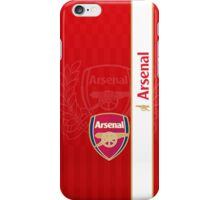 arsenal red LONDON white line iPhone Case/Skin