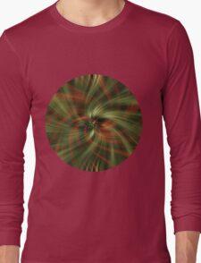 Green Swirl Long Sleeve T-Shirt