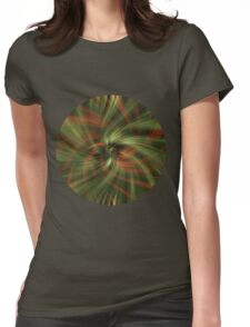 Green Swirl Womens Fitted T-Shirt