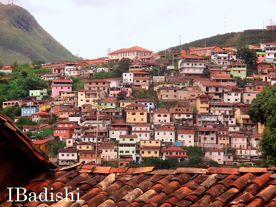 Houses on the Mountain Side, Ouro Preto, Brazil by ibadishi