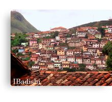 Houses on the Mountain Side, Ouro Preto, Brazil Canvas Print