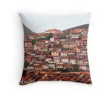 Houses on the Mountain Side, Ouro Preto, Brazil Throw Pillow