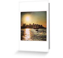 Boston's Beautiful Sky Greeting Card