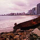Boat Wreck on the Shore - Fortaleza, Brazil by ibadishi