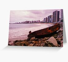 Boat Wreck on the Shore - Fortaleza, Brazil Greeting Card