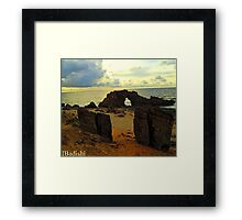 The Drilled Rock in Jericoacoara, Brazil Framed Print