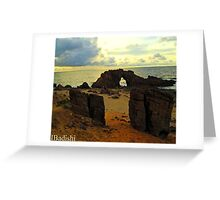 The Drilled Rock in Jericoacoara, Brazil Greeting Card