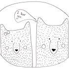 Bears in love by jadelaura