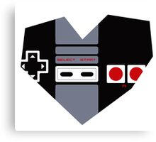 I Heart Gaming - NES Canvas Print