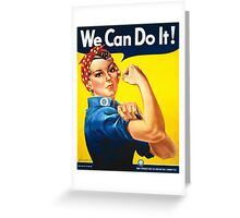 Vintage poster - Rosie the Riveter Greeting Card