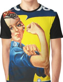 Vintage poster - Rosie the Riveter Graphic T-Shirt