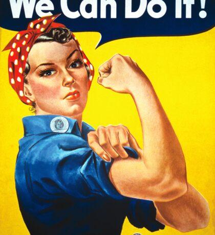 Vintage poster - Rosie the Riveter Sticker