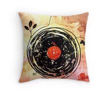 Enchanting Vinyl Records Vintage Throw Pillow