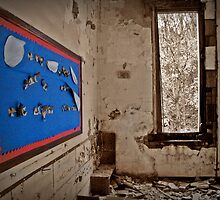 A Message Of Cheer Shining On An Empty Room by Paul Lubaczewski