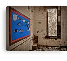 A Message Of Cheer Shining On An Empty Room Canvas Print